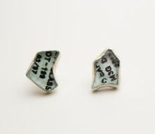 car glass earrings
