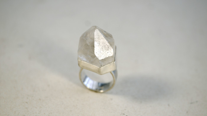 quartz point ring