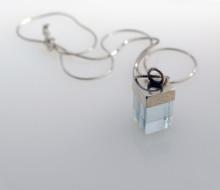 broken glass pendants