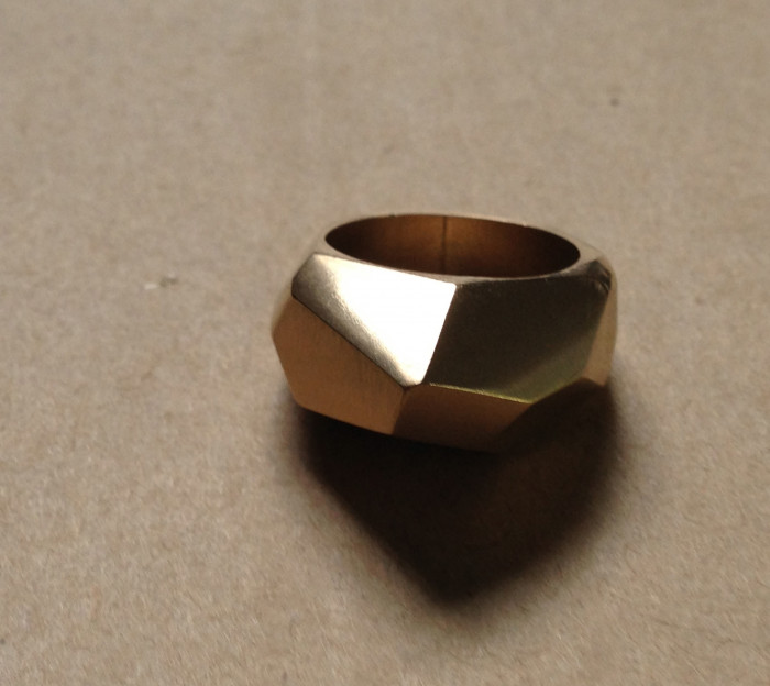 Recycled gold wedding 'band'