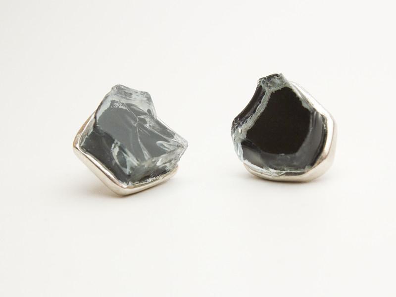 tinted car glass earrings