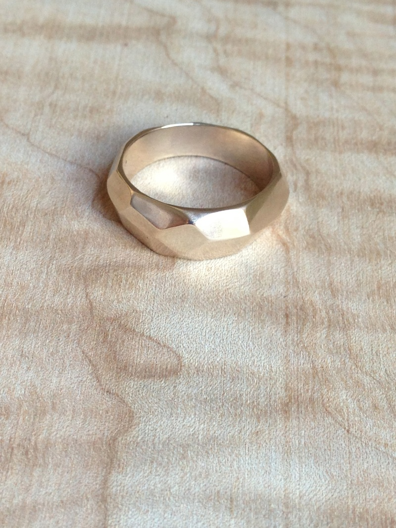Men's Recycled Gold Wedding Band.